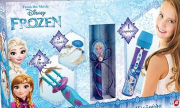 Ιδέες για πασχαλινή λαμπάδα: Frozen Μικρόφωνο-Πλεξούδα-Hair Braider