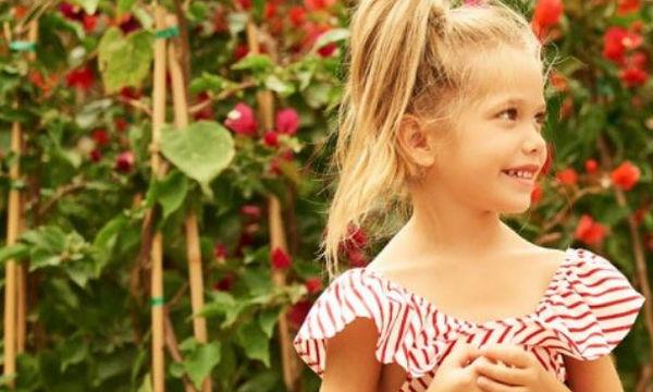 Παιδική ρετρό τζιν φούστα