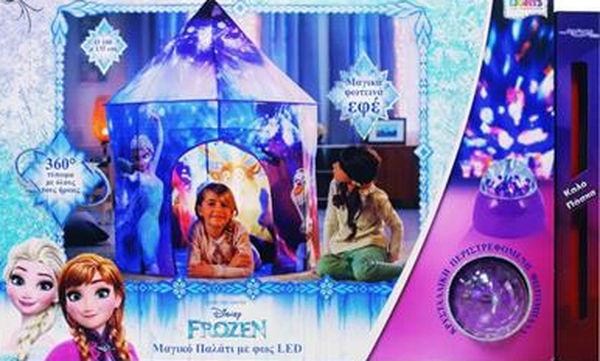 Ιδέες για πασχαλινή λαμπάδα: Σκηνή Κάστρο Frozen με φως