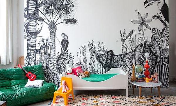 Αυτοκόλλητα τοίχου: Διακοσμήστε το παιδικό δωμάτιο με χαρούμενα σχέδια (pics)