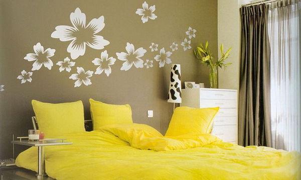 Deco: Διακοσμήστε την κρεβατοκάμαρά σας με λουλούδια στους τοίχους (vid+pics)