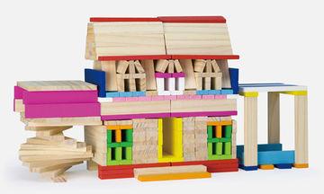 Ξύλινα τουβλάκια για παιδιά που φαντάζονται και δημιουργούν
