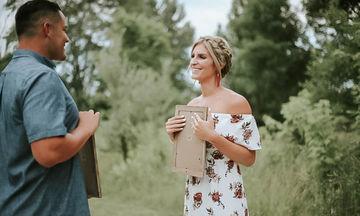 Η απίθανη έκπληξη που ετοίμασε στο σύζυγό της για να του ανακοινώσει ότι είναι έγκυος (pics)
