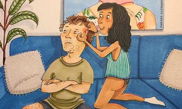 Αποτύπωσε σε σκίτσα την αθέατη πλευρά της καθημερινότητας ενός ζευγαριού και μας εντυπωσίασε (pics)