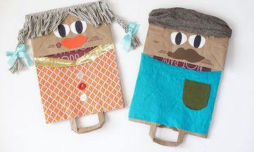 DIY: Φτιάξτε όμορφες φιγούρες με χάρτινες σακούλες