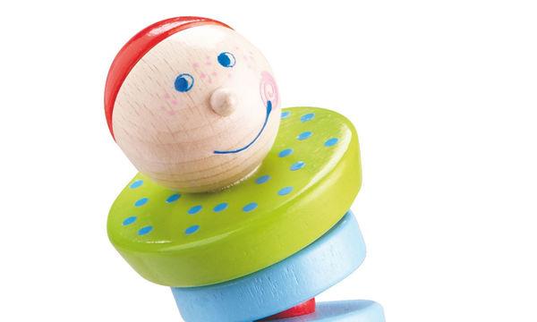 Πρωτότυπη ξύλινη κουδουνίστρα για ανήσυχα μωρά