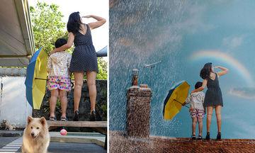Πριν και μετά: Είκοσι μοναδικές φωτογραφίες που τραβήχτηκαν στην αυλή ενός σπιτιού (pics)