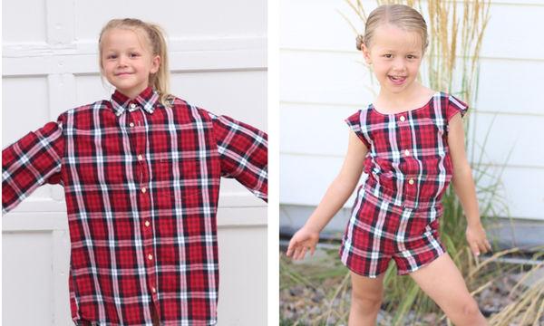 Αυτή η  γυναίκα μεταμορφώνει τα πουκάμισα του συζύγου της σε μοντέρνα οutfits για τις κόρες της