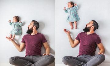 Η φωτογράφηση μπαμπά με το νεογέννητο μωρό, που μας άφησε με το στόμα ανοιχτό