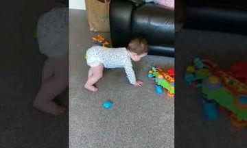 Δείτε την αντίδραση του μωρού όταν ακούει την ηλεκτρική σκούπα (video)