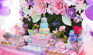 Παιδικό πάρτι γενεθλίων με θέμα τα λουλούδια (pics)