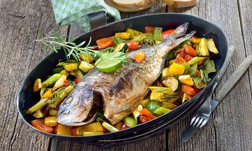 Ψάρι στο φούρνο με λαχανικά