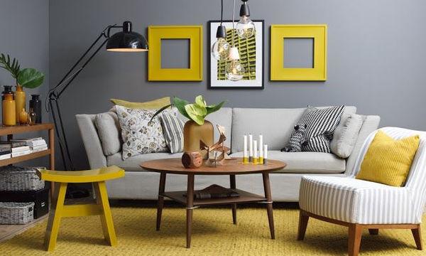 Κίτρινο χρώμα στο σπίτι - Είκοσι ιδέες για το σαλόνι σας (pics)