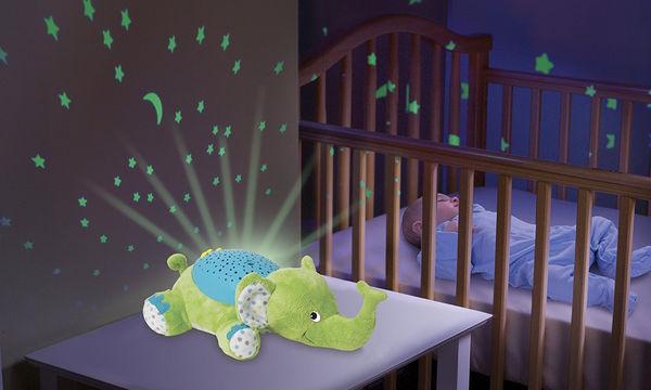 Βρεφικό φωτιζόμενο λούτρινο για το παιδικό δωμάτιο με χαλαρωτικούς ήχους