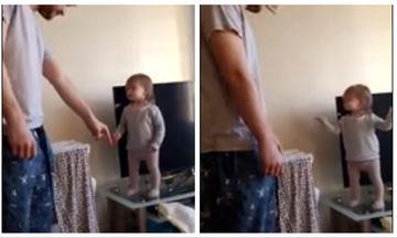 Μπαμπάς και μικρή κόρη έχουν έντονη διαφωνία και ο καβγάς τους είναι απολαυστικός (vid)
