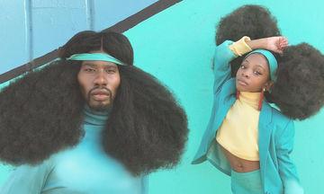 Μπαμπάς και κόρη «ξαναχτυπούν» τρελαίνοντας το διαδίκτυο με τα υπέροχα μαλλιά τους