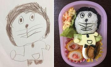 Μπαμπάς μετατρέπει τις ζωγραφιές της κόρης του σε υπέροχα σνακ (pics)