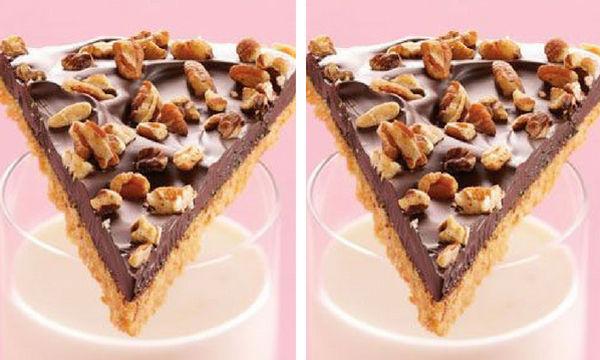 Γλυκιά πίτσα με σοκολάτα και ξηρούς καρπούς