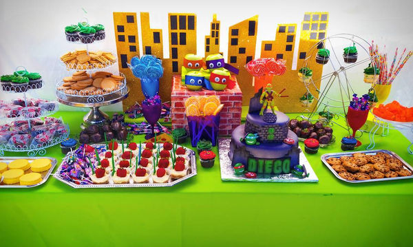 Παιδικό πάρτι με θέμα τα χελωνονιντζάκια - Ιδέες διακόσμησης και τούρτας