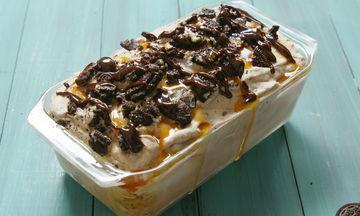 Σπιτικό παγωτό με μπισκότα, σοκολάτα και καραμέλα - Τόσο λαχταριστό και νόστιμο! (video)