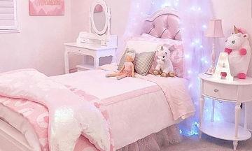 Ροζ παντού! Τα ωραιότερα κοριτσίστικα υπνοδωμάτια, στο Instagram
