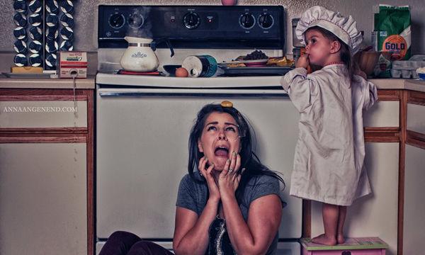 Η καθημερινότητα μίας μαμάς που μένει στο σπίτι, μάλλον, είναι κάπως έτσι (pics)