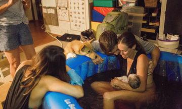 Μοναδικό! Γυναίκα που γεννούσε δεν είχε αντιληφθεί ότι ο σκύλος της δεν έφυγε λεπτό από κοντά της