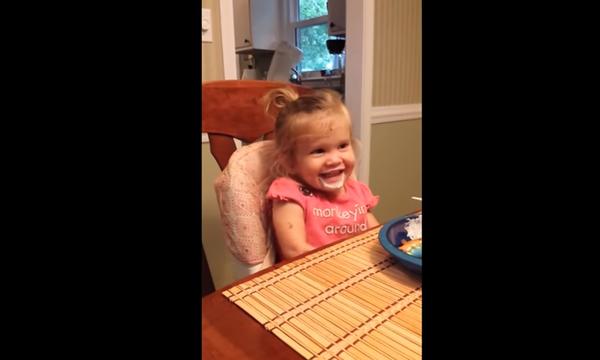 Το κοριτσάκι ομολογεί τη ζαβολιά της με τον πιο αστείο τρόπο (vid)