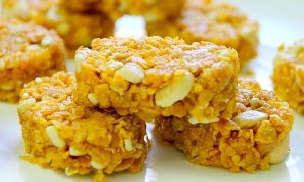 Μπισκότα με corn flakes και ξηρούς καρπούς χωρίς ψήσιμο  (video)