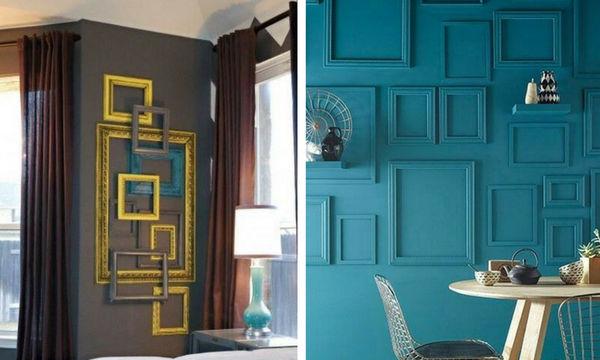 Διακόσμηση τοίχου με άδειες κορνίζες - 25 προτάσεις για να πάρετε ιδέες