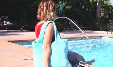 Φτιάξτε τσάντα θαλάσσης από μια παλιά πετσέτα (vid)