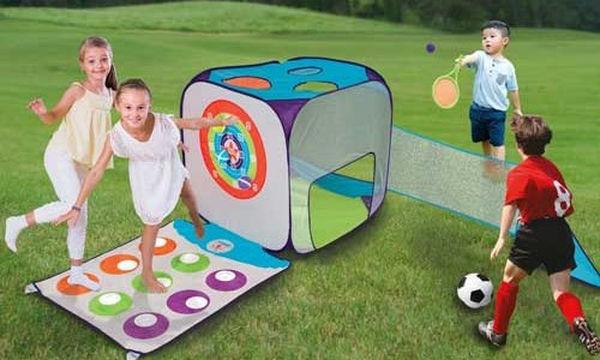 Κύβος με έξι σπορτ παιχνίδια για τον κήπο - Για ατελείωτες ώρες διασκέδασης