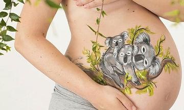 Οι μέλλουσες μανούλες που κάνουν body painting στις κοιλίτσες τους (pics)