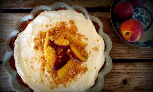 Εξπρές γλυκό με ροδάκινα - Δροσερό,νόστιμο και πανεύκολο