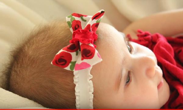 Φτιάξτε πανέμορφες κορδέλες για την μικρή σας (vid)