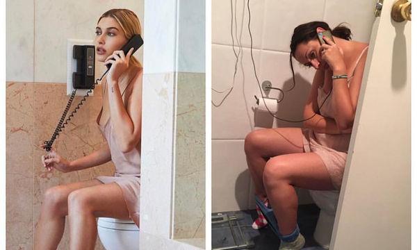 """Αυτή η γυναίκα αντιγράφει φωτογραφίες διασήμων και μας αποκαλύπτει την """"ωμή"""" πραγματικότητα"""