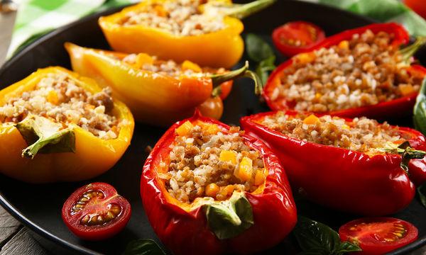 Συνταγή: Γεμιστές πιπεριές με πλιγούρι