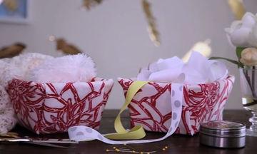 DIY: Υφασμάτινα καλάθια για να έχετε τα πάντα σε τάξη (vid)
