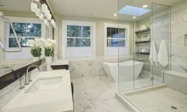 7 υπέροχες ιδέες για ένα μπάνιο χωρίς πλακάκια (pics)