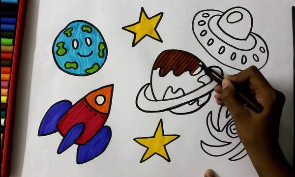 Ζωγραφική και παιδιά: Το διάστημα μέσα από τα μάτια των παιδιών (Pics)