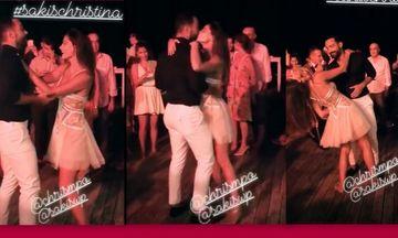 Τανιμανίδης-Μπόμπα: Ο χορός, το καυτό φιλί και όλα όσα έγιναν στο πάρτι πριν τον γάμο τους!