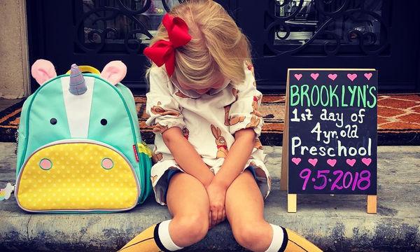 Η κόρη του διάσημου ζευγαριού δεν πήγε με χαρά την πρώτη μέρα στο σχολείο (pics)
