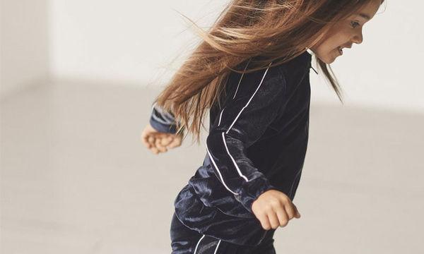 Άνετο και μοντέρνο παντελόνι φόρμα σε βελούδο μπλε