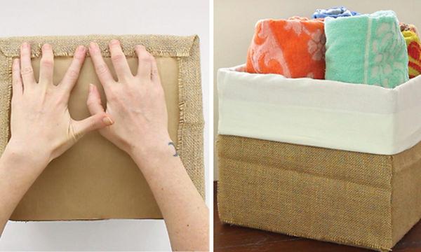 Φτιάξτε μόνοι σας μοδάτα διακοσμητικά καλάθια από χάρτινα κουτιά (vid) 49e74810e47