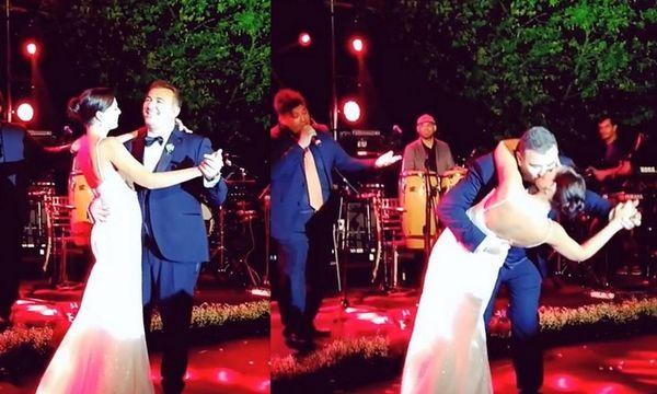 Γάμος Ρέμου – Μπόσνιακ: Ο χορός του ζευγαριού και το παθιασμένο του φιλί
