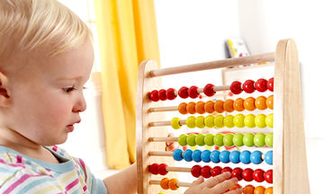 Ξύλινο αριθμητήριο για τις πρώτες αριθμητικές πράξεις του παιδιού