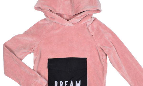 Μπλούζα από ροζ βελούδο για κορίτσια