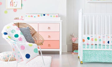 Βρεφικό δωμάτιο: Τριάντα ιδέες για να το βάψετε και να το διακοσμήσετε (pics)