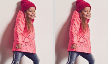 f0151c7184a Μοντέρνο ροζ μπουφάν για κορίτσια με σχέδια σε οικονομική τιμή