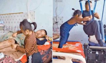Είναι μόλις 6 χρονών και φροντίζει τον παράλυτο πατέρα της αφού η μητέρα της τους παράτησε